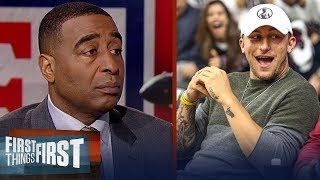 Cris Carter reacts to Jonny Manziel positioning himself for an NFL comeback | FIRST THINGS FIRST