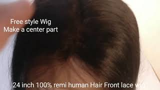 Hair wig women front lace 100% vergin Remy har brand name Ritzkart Shop online with us 20 to 28 inch