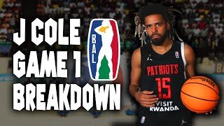 J Cole's First Game in The Basketball Africa League Breakdown