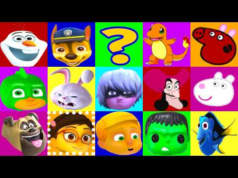 PJ Masks Villains Board Game Luna Girl, Paw Patrol, Peppa Pig, Spiderman Play-Doh Surprise