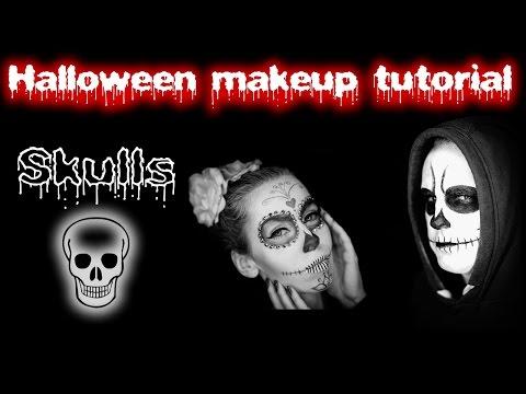 Baixar Skulls Halloween makeup tutorial   ♥ Sugar skull ♥   Lebkouni   Maska lebky