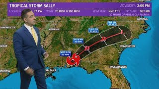 Tropics Update: Slow-moving Sally dumps flooding rain as it makes landfall