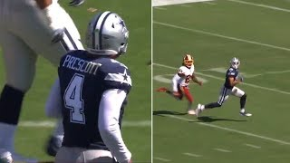 Dak Prescott 51 Yard Touchdown Pass To Devin Smith VS Redskins! #NFL #Cowboys