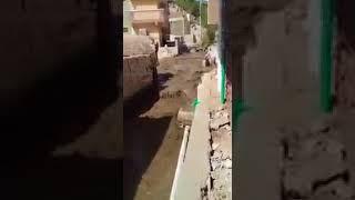 كارثه في منطقة الكرور بمدينة اسوان انفجارخط الطرد الرئيس لمحطة الصرف ...