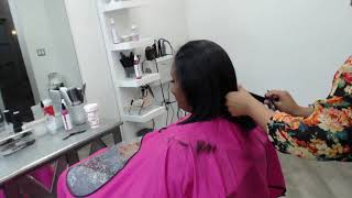 HOW TO DO THE PEFECT CUT ON UNEVEN NATURAL 4A HAIR