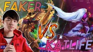 Katlife   KATLIFE vs FAKER - I SNIPED FAKER IN SOLO QUEUE