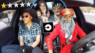Picked Up Nique & King In An UBER UNDER DISGUISE!!! **Terrible Idea**