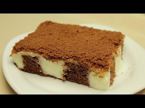 Vanilyalı puding dolgulu kek tarifi pudingli yaş pasta yapımı
