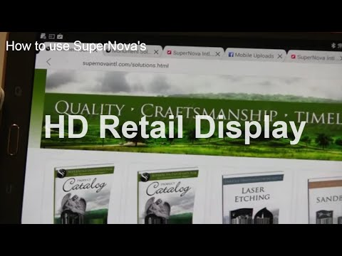 Using the SuperNova Intl HD Retail Display