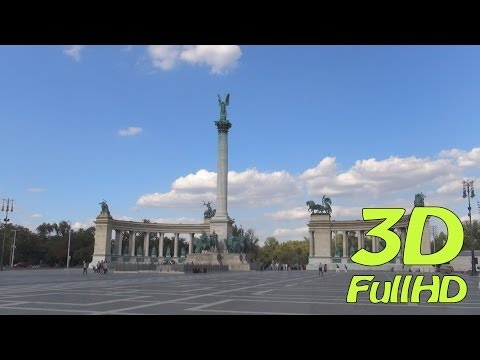 [3DHD] Heroes' Square / Hősök tere / Plac Bohaterów, Budapest, Hungary / Magyarország / Węgry