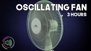Relaxing Oscillating Fan White Noise Sound for Sleep and Study | 3 Hours