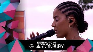 Grace Carter performs Silence in acoustic session at Glastonbury 2019