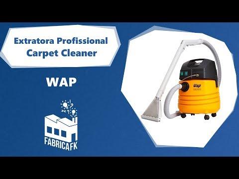 Extratora Profissional 1600W 25L Carpet Cleaner 127V Wap - Vídeo explicativo