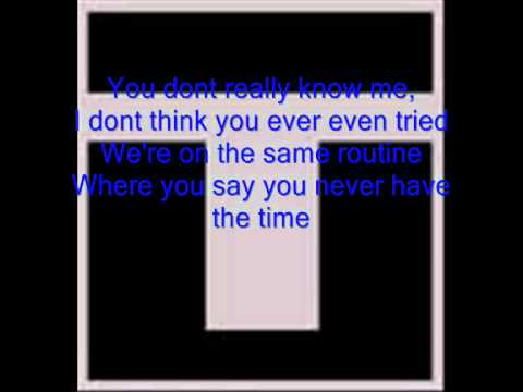 Trapt - Disconnected with Lyrics
