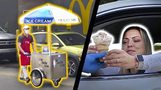 Setting Up an Ice Cream Stand at McDonald's Cause Theirs is Broken