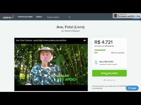 www.catarse.me/avefoto - Como contribuir