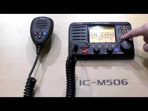 Introducing the Icom IC M506 Marine Radio with AIS Receiver London Boatshow 2014