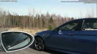 BMW M5 F10 vs M5 E60 x 3 races from the M5 E60