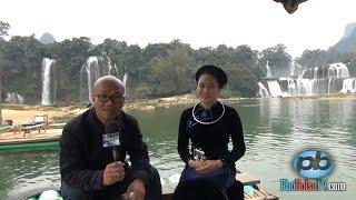 Ngồi bè trên sông Quây Sơn, ngắm thác Bản Giốc, với cô gái Tày