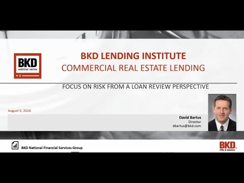 BKD Lending Institute – Commercial Real Estate Lending