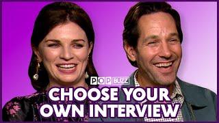Paul Rudd & Aisling Bea Talk Irish Vagina Slang | Living With Yourself | PopBuzz Meets
