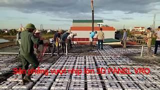 Thi công Công nghệ xây dựng sàn vượt nhịp lớn, sàn không dầm, sàn phẳng vượt nhịp lớn 3D PANEL VRO