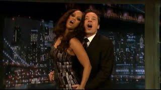 Tyra Banks teaches Jimmy Fallon how to pose sexily