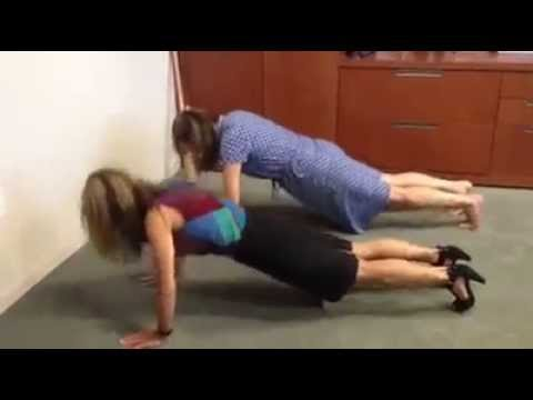 20 Pushup Challenge: Amenzone Clients Dawn and Bethany taking a break to accept the challenge!