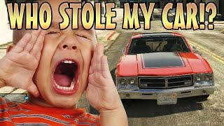 STEALING KIDS CAR WHILE INVISIBLE! (GTA 5 Funny Trolling) - YouTube