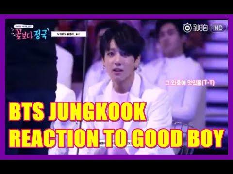 BTS Jungkook reaction to Good Boy GD & Taeyang ( MAMA 2014 )