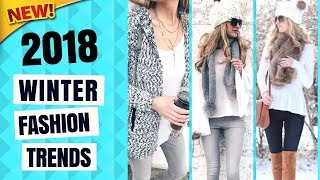 Casual Winter Fashion Trends 2018 | Cold Winter Outfits Ideas