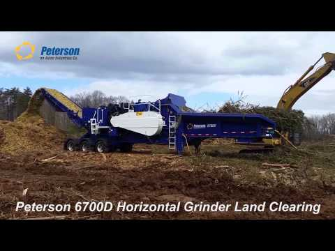Peterson 6700D Horizontal Grinder Land Clearing