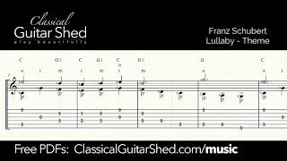Schubert: Lullaby - Free sheet music and TABS for classical guitar