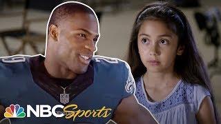 10 Year Old Stumps NFL Stars | NFL | NBC Sports