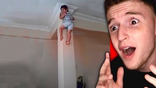 This kid can climb the walls like Spiderman!