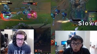 Bjergsen DUO Doublelift - OUTPLAYS - PulseFire Cait/Lucian | Faker NA FLASH | Funny Stream Moments