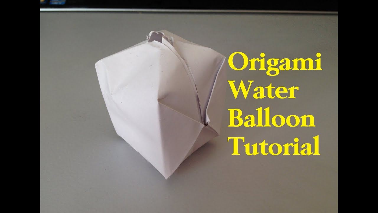 how to make a paper balloon water bomb origami l. Black Bedroom Furniture Sets. Home Design Ideas