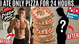 I ate nothing but PIZZA for 24 HOURS and this is what happened...