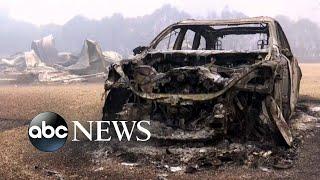 California wildfires destroy entire neighborhoods