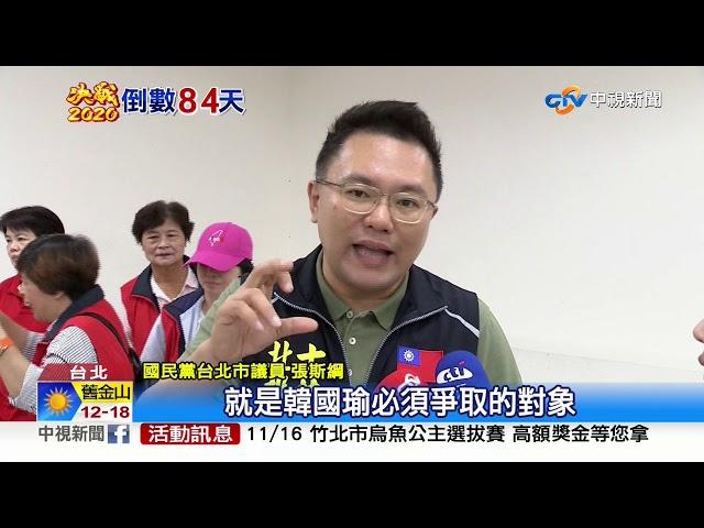 20%泛藍沒表態! 韓陣營樂觀:10月底民調追平