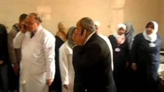 وكيل وزارة الصحة بغرفة حالات تسمم الازهر باسيوط