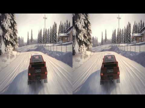 (3D & 4K) Dirt 3 3840x2160 Norway @ Snow (Ultra HD) Oculus Rift