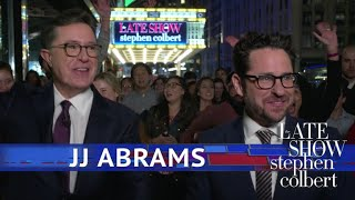 J.J. Abrams, Stephen And The Late Show Go To Times Square
