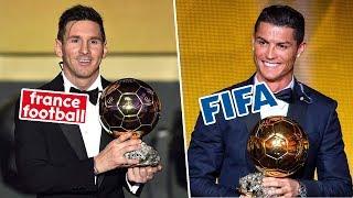 Phân biệt QBV FIFA và QBV Châu Âu