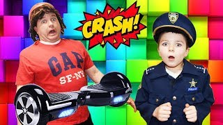 Sketchy Mechanic and the Hoverboard Experience Hilarious Kids Video with Dad