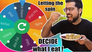 Letting this Spin DECIDE What I Eat For 24 Hours ||