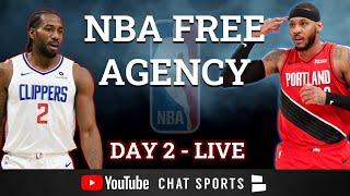 NBA Free Agency 2021 LIVE - Day 2 - Carmelo Anthony To LA, DeMar DeRozen Sign & Trade