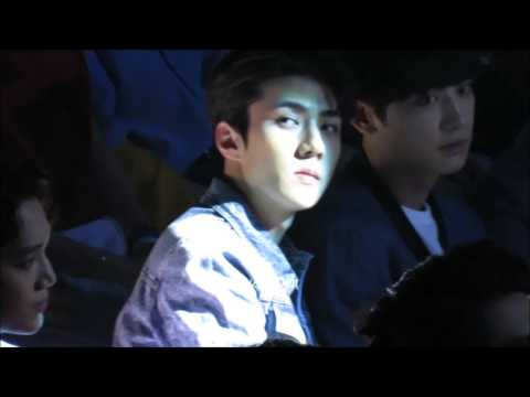 [fancam] 160409 Sehun tried to hide from the light EXO @16th TOP Chinese Music Awards