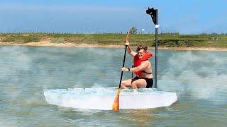 Ice Boat vs. World's Hottest Lake