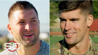 Tim Tebow interviews former Patriots DE who joined the Army after the NFL | SportsCenter